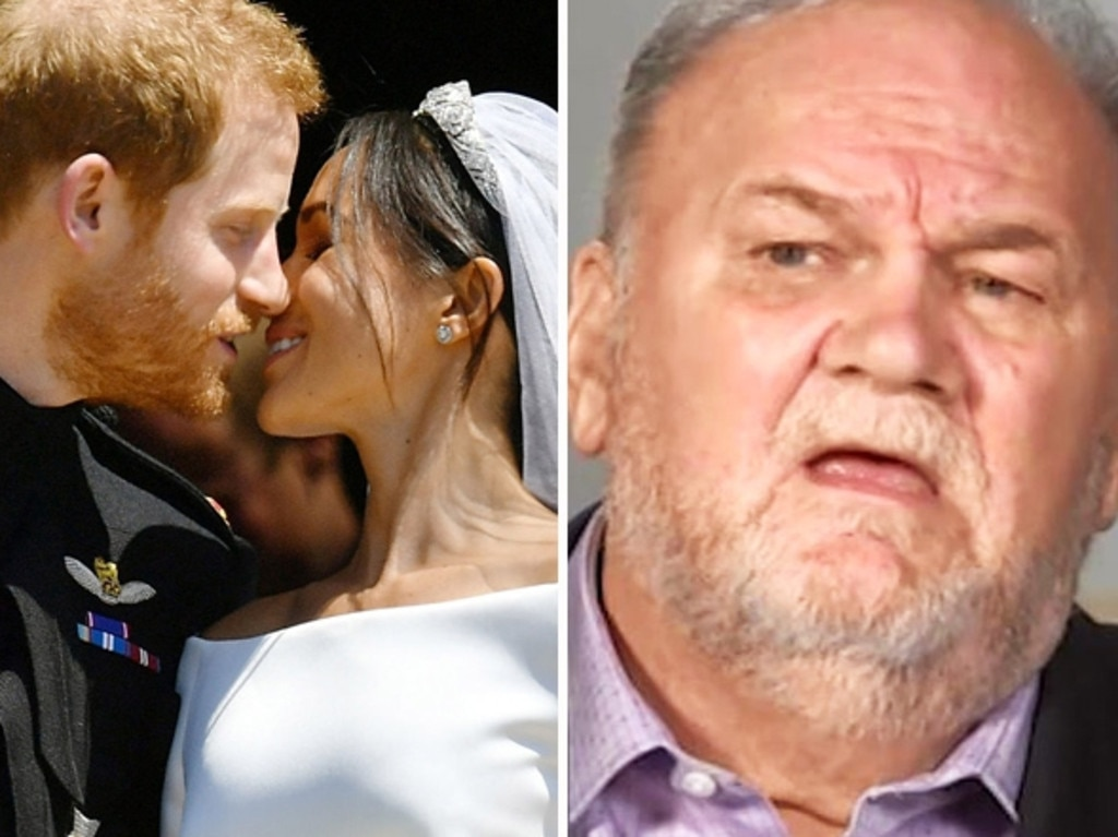 Meghan and Harry's wedding was overshadowed by her father Thomas Markle, who continually gave interviews to the tabloid press and then shared a letter his daughter wrote. Picture: ITV