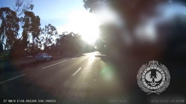 CCTV of car involved in fatal crash