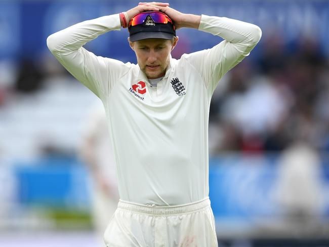 It was a tough day at the office for England captain Joe Root.