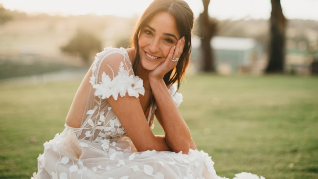 The TV presenter was positively glowing on her big day. Image: Supplied