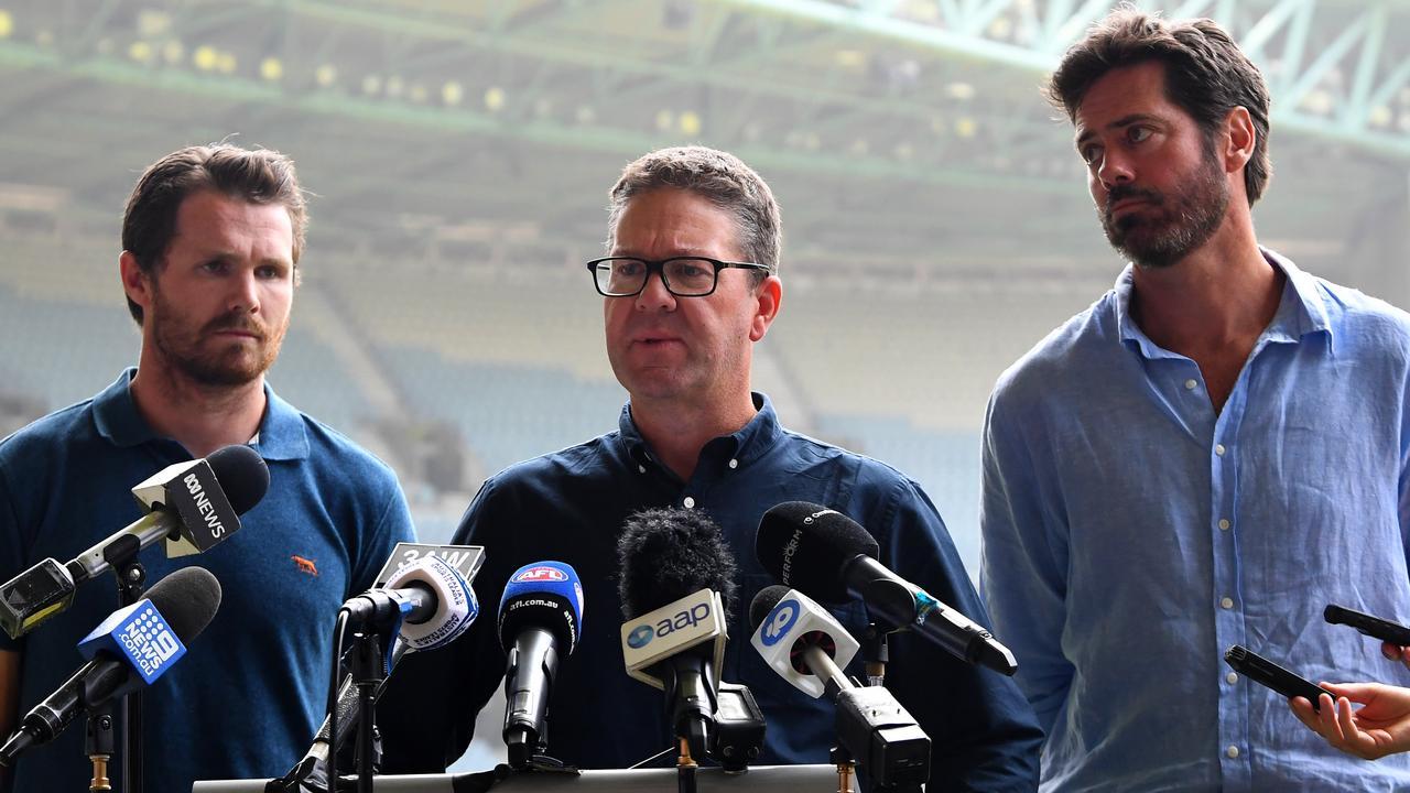 AFLPA CEO Paul Marsh has left the door ajar for a longer-than-regular season in 2021 (AAP Image/James Ross).