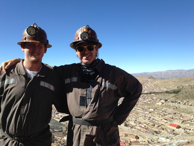 """Matt and Caleb braved what locals believe to be the """"gates of hell"""". Picture: Matt Castell"""