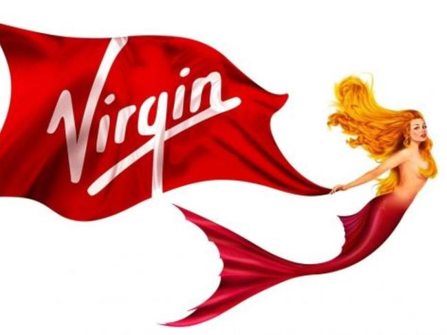 The mermaid logo was inspired by figureheads on historic vessels, Virgin Voyages says. Picture: Virgin Voyages