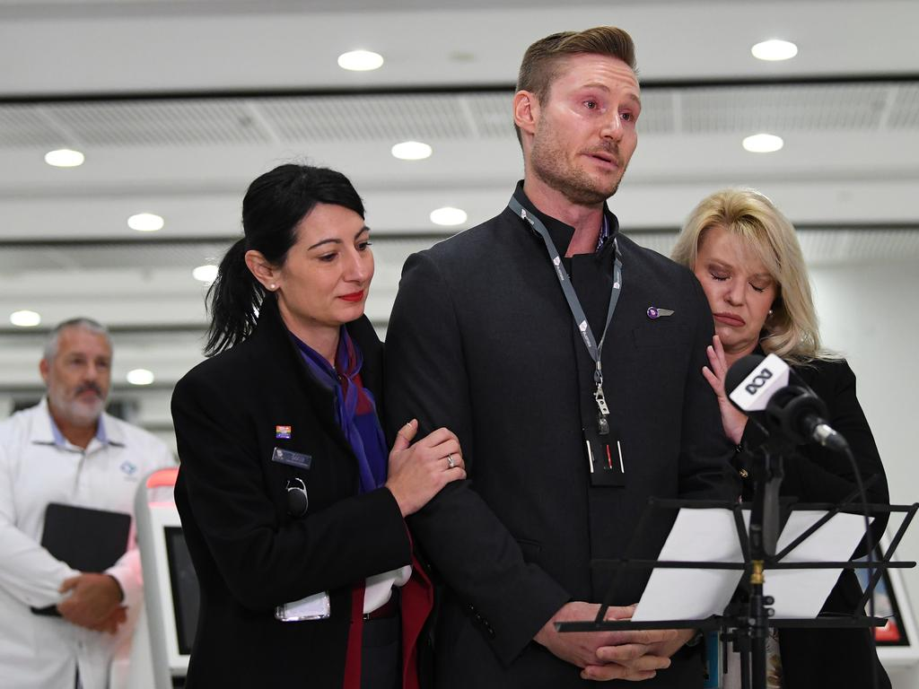 An emotional Tony Smith speaks out. Picture: James Ross/AAP
