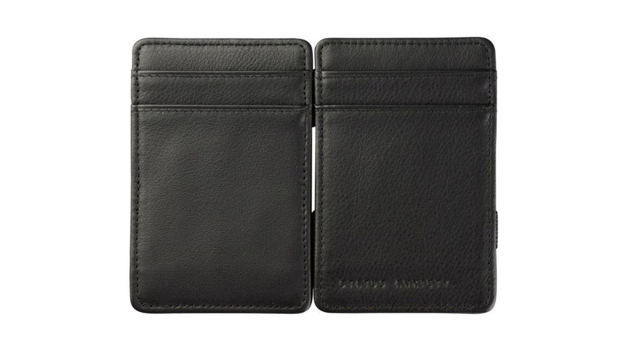 Status Anxiety Flip Wallet in black