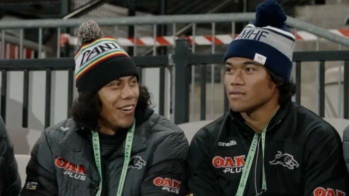 Panthers star Jarome Luai and Brian To'o were mic'd up to watch their team play.