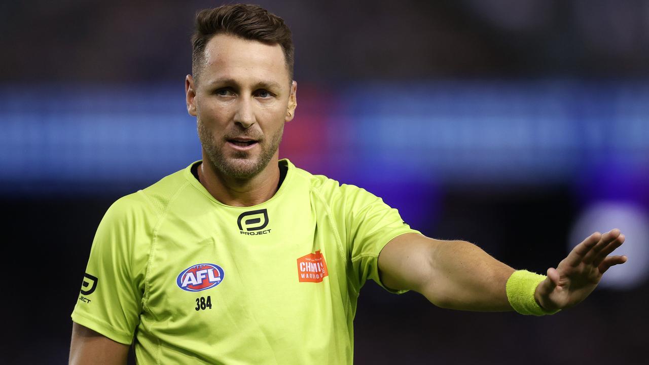Brett Rosebury will officiate his ninth AFL grand final. Picture: Michael Klein