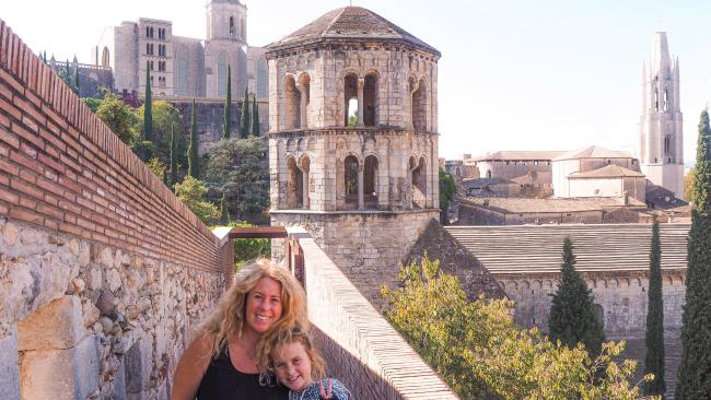 Emmie loves exploring new places, like Girona, Spain. Picture: Supplied
