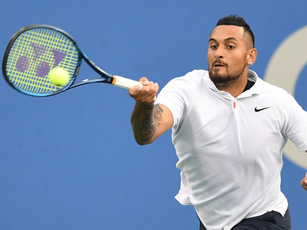 Can Kyrgios rediscover his tennis form of old? Picture: Mitchell Layton/Getty Images/AFP