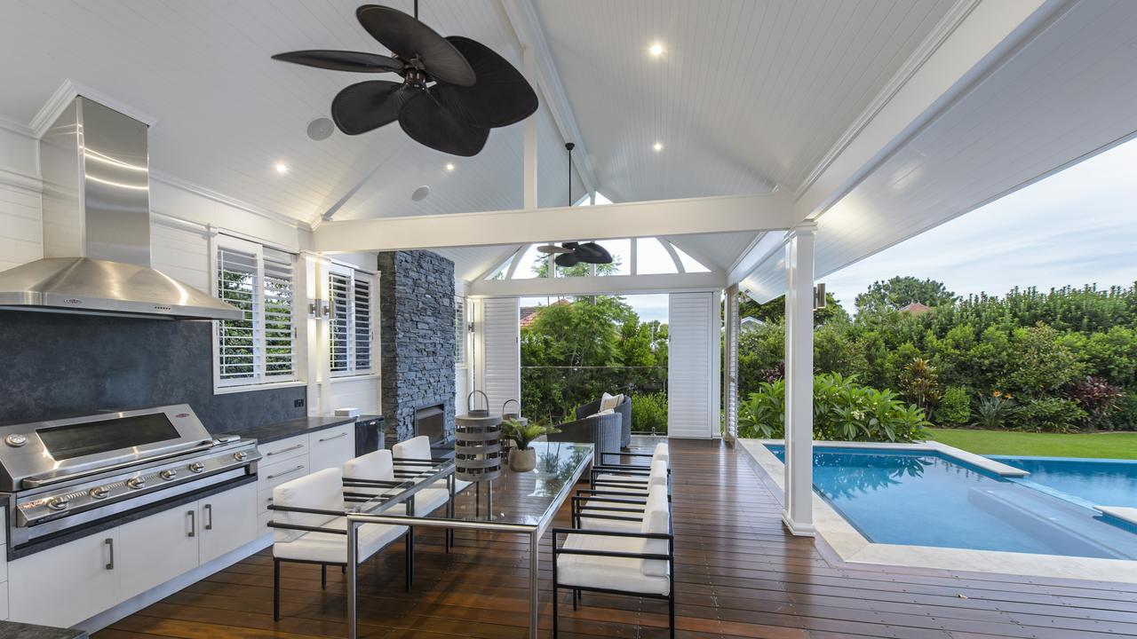 The outdoor entertaining space at the property at 27 Sutherland Ave, Ascot.