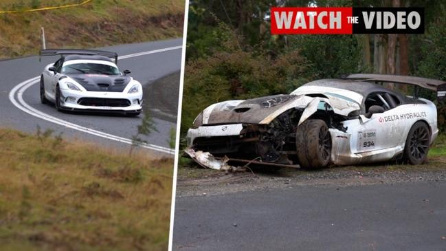 Targa Tasmania campaign up in smoke after horror crash
