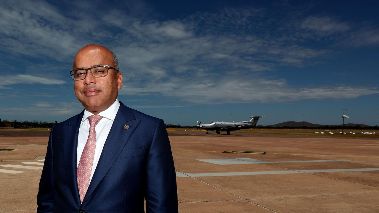 Becker Helicopter announcement at the Whyalla airport. Pictured is Whyalla Steelworks owner Sanjeev Gupta at Whyalla Airport.Picture: Dylan Coker