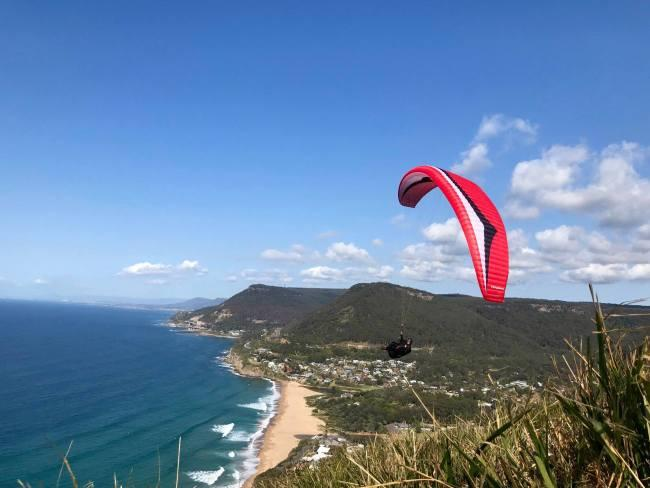 10/13Adventure Plus Paragliding Wollongong  This highly experienced father/son team will take you to the air tandem paragliding with absolute ease. Once above the rugged coastline of Wollongong you will see the harbour city and surrounds from an unfamiliar aspect. Find the experience enjoyable enough and you can jump on one of their courses to get you up flying solo. adventureplusparagliding.com.au