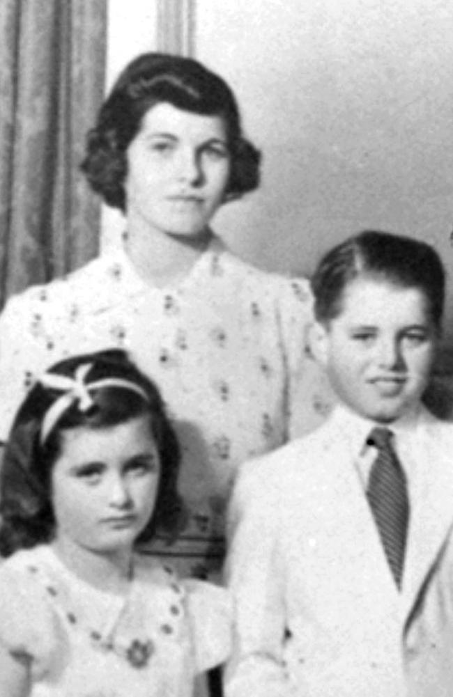 John F. Kennedy's sister Rosemary (top) with siblings Jean and Robert Kennedy. Rosemary, who was born with an intellectual disability, lived most of her life in an institution after undergoing a lobotomy. Picture: AP /Boston Globe