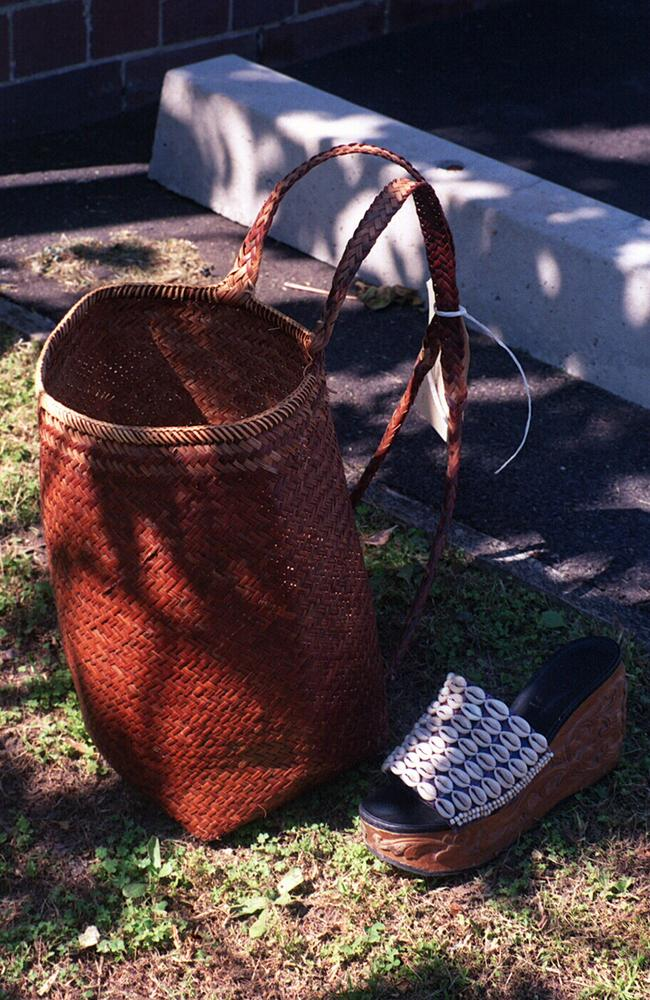 Police found Revelle's cork-heeled platform shoe, her cane make-up bag, her diary and keys (above) scattered over four streets after she vanished. Picture: NSW Police
