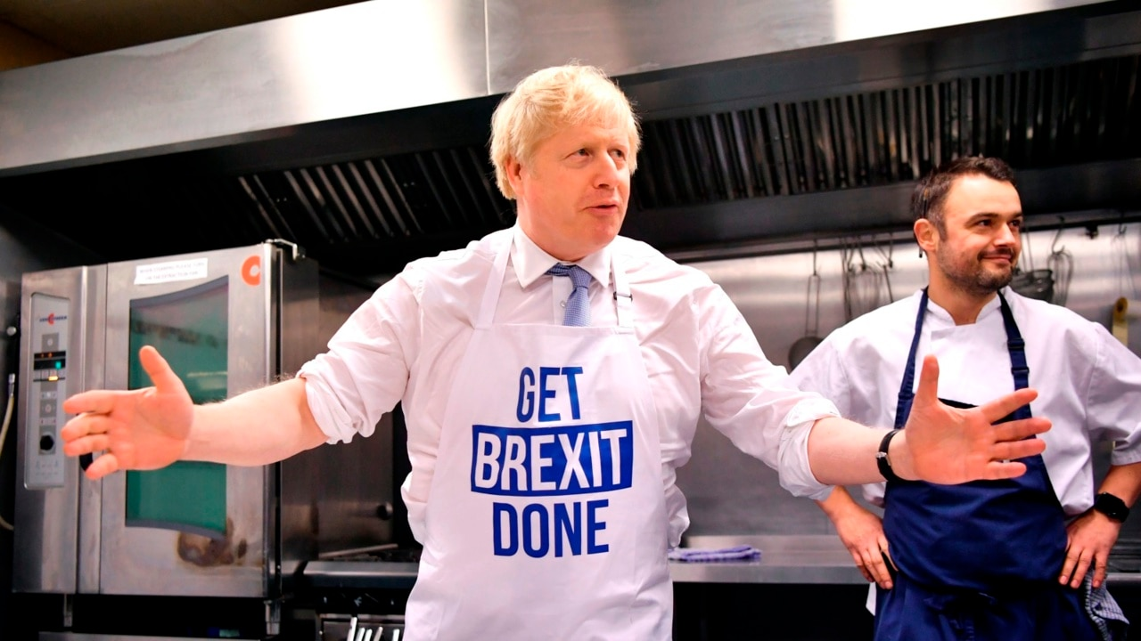 'First breakfast, then Brexit': Johnson revels in election victory