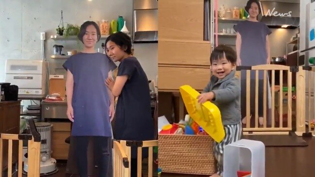 Mum creates cardboard cutout of herself to calm son