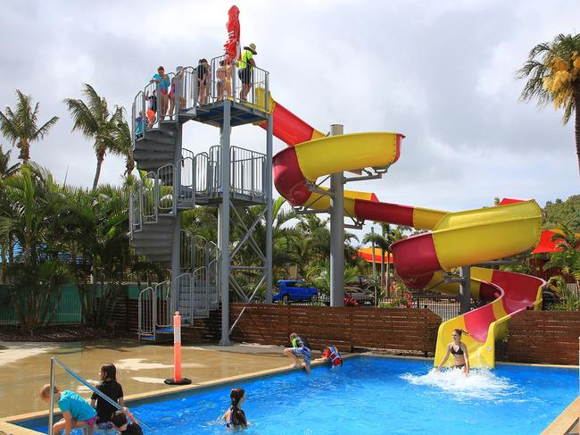 BIG4 CAPRICORN PALMS HOLIDAY VILLAGE, YEPPOON With an impressive 34m waterslide, this fun-filled holiday park is an ideal base for your next holiday with the family. big4.com.au/capricorn-palms  PRICE: See website  OPENING HOURS: 8am — 6pmLOCATION: Wildin Way, Mulambin QLD