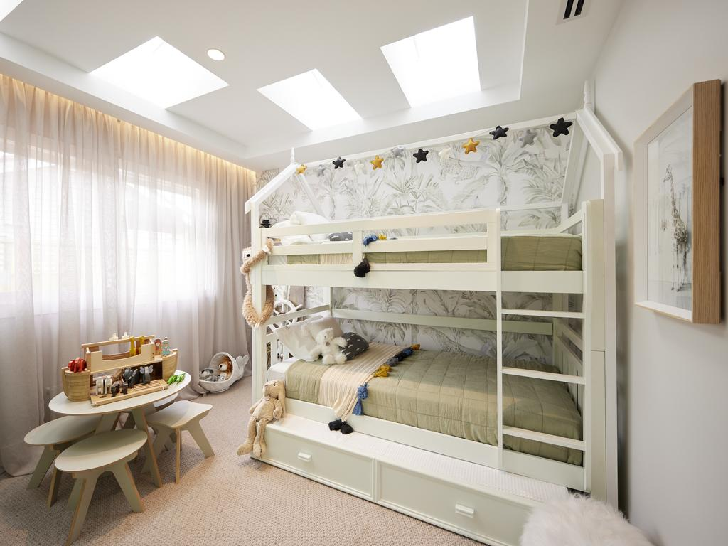 Mark and Mitch's jungle themed kids' room. Picture: Channel 9