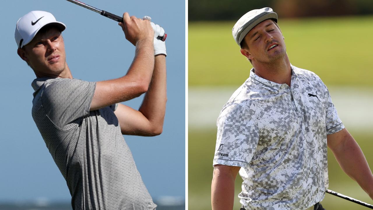 """Cameron Davis is a surprise leader of Australia's contingent at the PGA Championship, while Bryson DeChambeau feels """"out of sorts""""."""