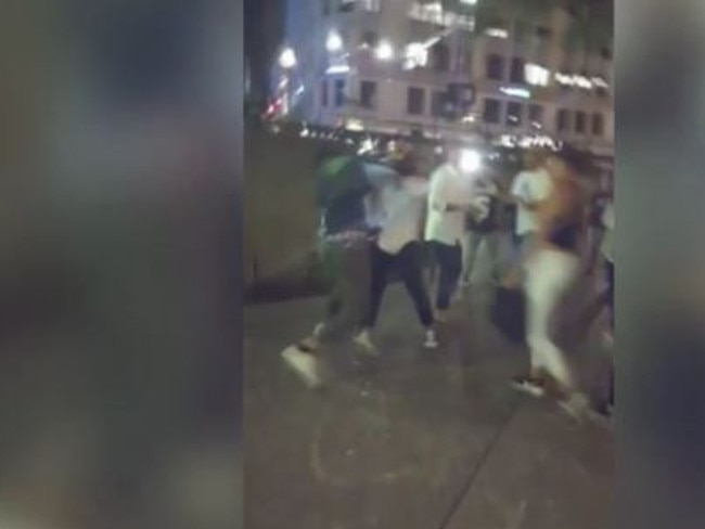 Up to 30 people were involved in the violent fight.