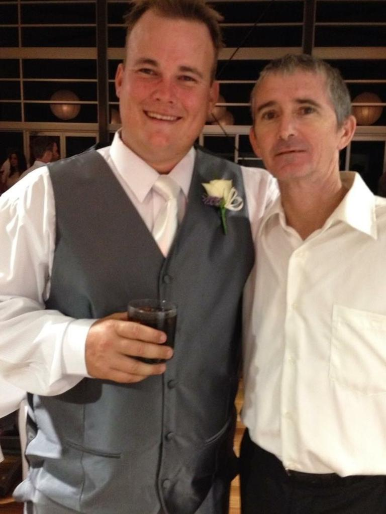 Marc and Lyell at a family wedding the day after his diagnosis.