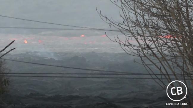Lava Gushes Through Leilana Estates From Kileau Volcano's