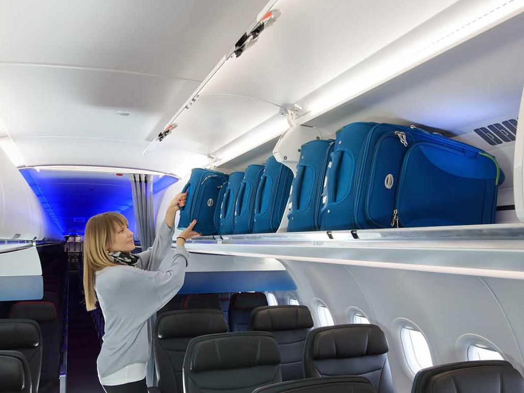 She has definitely gone over her cabin baggage allowance. Picture: iStock.