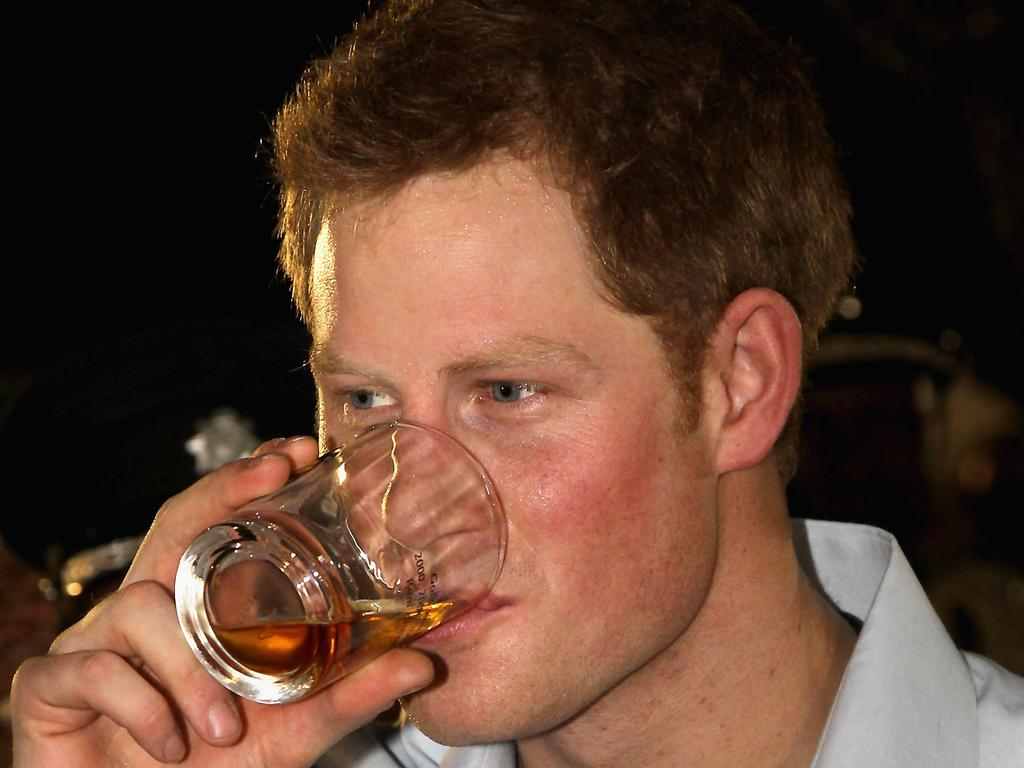 It took a lot of hard drinking to earn Harry the honorary title of the Party Prince. Picture: Chris Jackson-Pool/Getty Images
