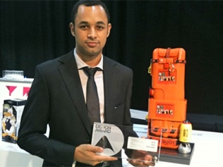 Sam Adeloju also won the Silver Medal for the Australian Student Design. Picture: UNSW