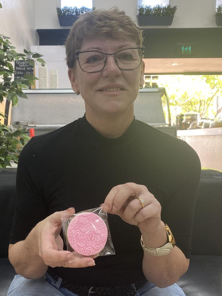 Former Bundy MP Leanne Donaldson has launched her very own business selling handmade sugar cookies. Picture: Rhylea Millar