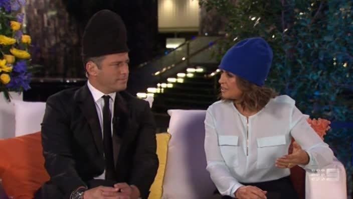 Karl and Lisa wear beanies to support Carrie Bickmore