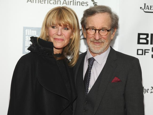 Kate Capshaw and Steven Spielberg. Picture: Andy Kropa/Invision/AP