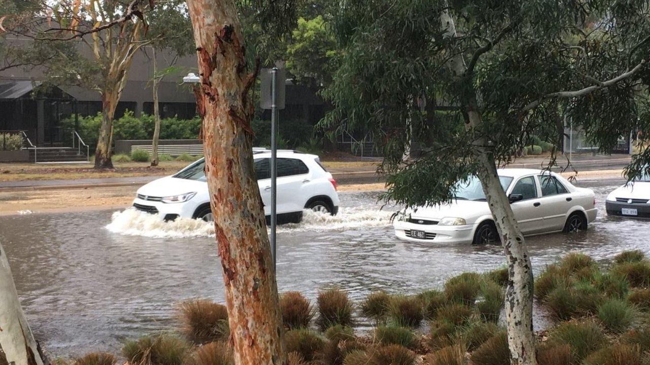 Canberra hit by heavy rain and flash flooding