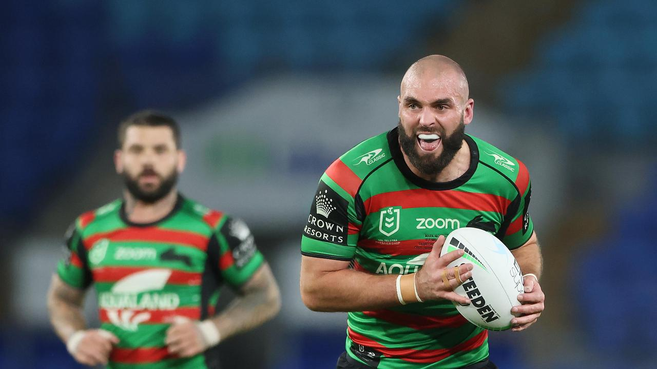 Underrated South Sydney prop Mark Nicholls is set to be rewarded with a contract extension following a standout season. Picture: NRL Imagery