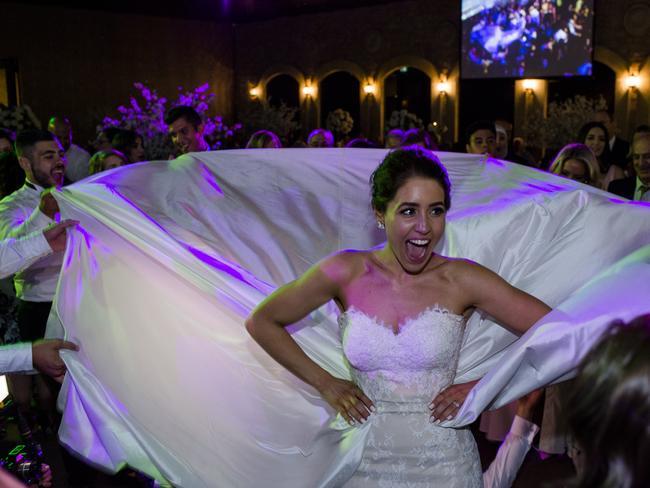 Bianca's dress becomes a dancefloor highlight.