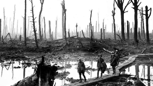 Historical moment ... Australian troops at the Somme. Picture: Australian War Memorial