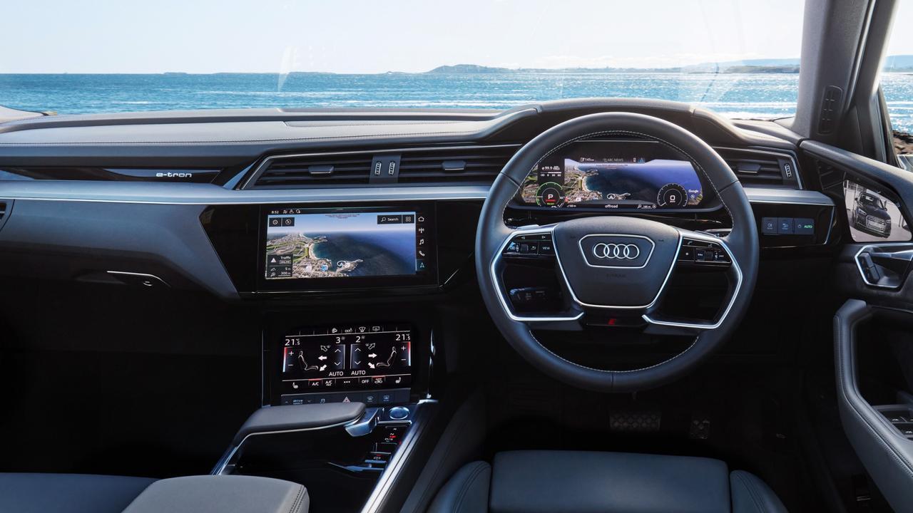 Audi's interior features three screens.