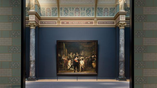 Its collection includes his uber famous The Night Watch (pictured), as well as self portraits (there are 22 works in total, making it the largest collection in the world). There are also Dutch Golden Age works by Vermeer (of Girl with pearl earring fame) and Frans Hals, as well as objects of historical value. Picture: Iwan Baan/Rijksmuseum rijksmuseum.nl