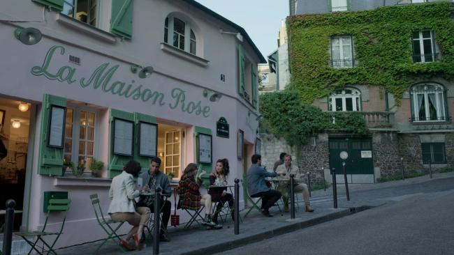 In the show, Emily and her friend Mindy eat at La Maison Rose, an aptly pink coloured restaurant that is a real place to eat in Montmartre and a favourite for food and pics for the 'gram.