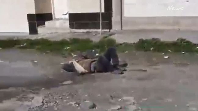Shocking footage shows man lying on street after being refused medical help