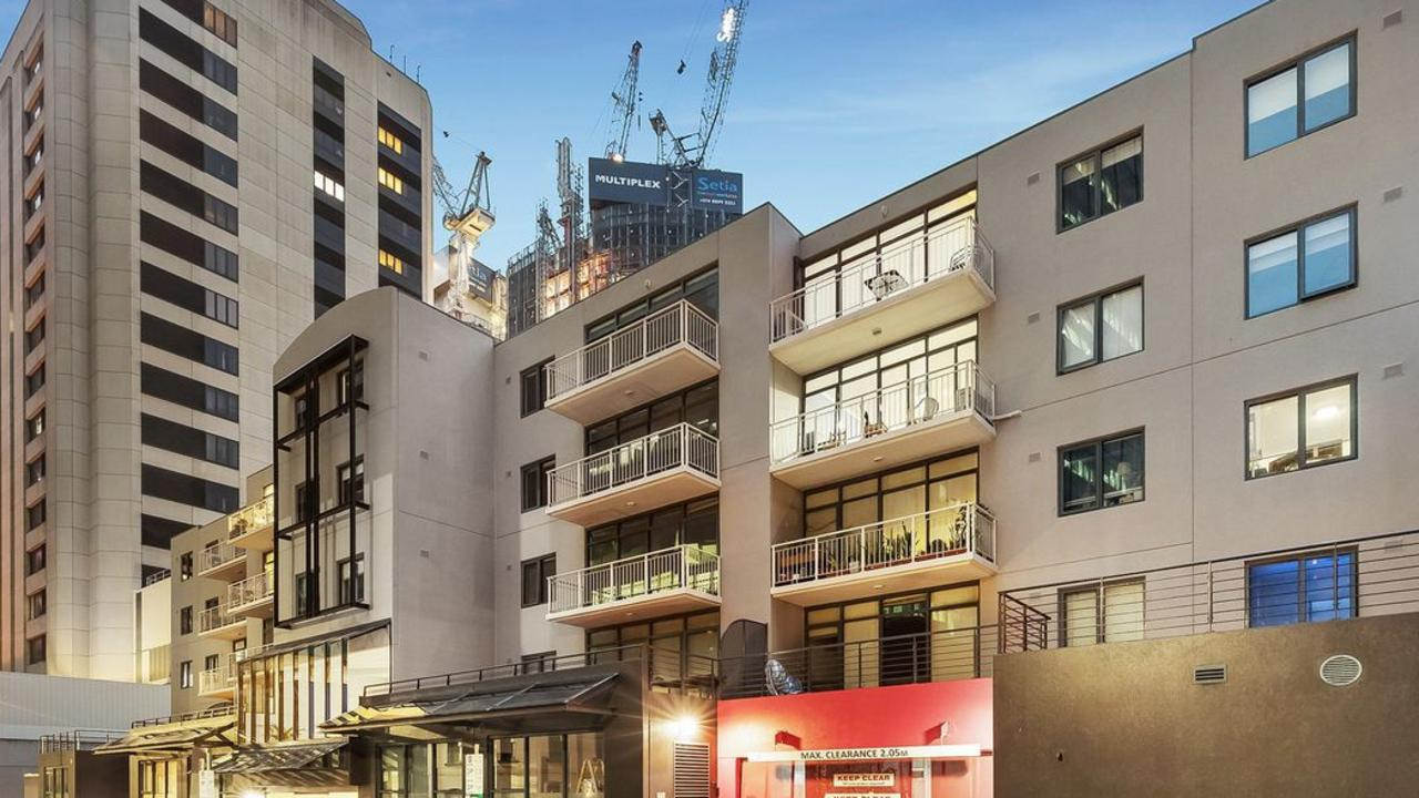A two-bedroom apartment at 193/28 Little Lonsdale Street, Melbourne, sold as part of his estate last weekend.