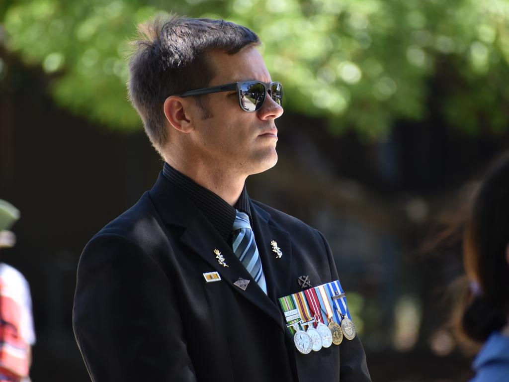 East Timor and Afghanistan veteran Mark Preston at the Mackay Remembrance Day commemorative ceremony at Jubilee Park in 2020. Picture: Zizi Averill