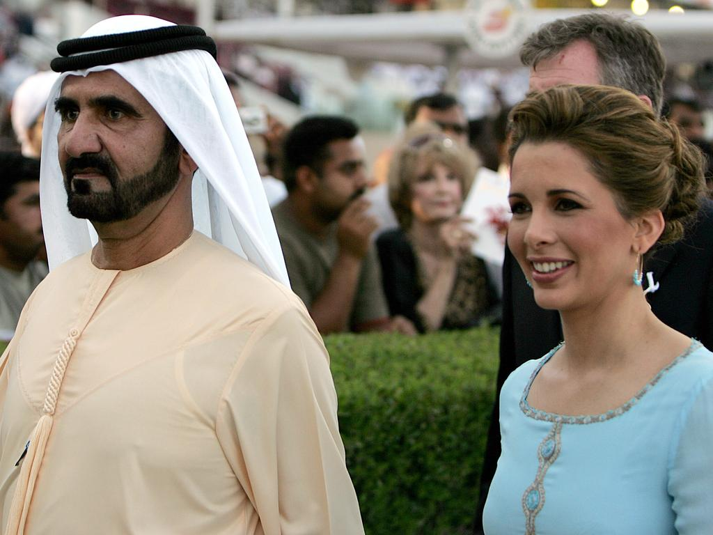 Princess Haya and her husband were often pictured together at high-profile events. Picture: Karim Sahib / AFP