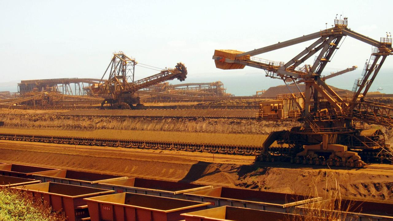 Iron ore supply is set to rise as demand shrinks. Picture: Amy Coopes/AFP