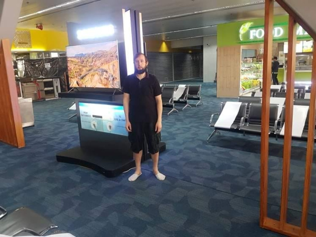 He was stuck in the airport between March 20 and July 7. Picture: ViralPress