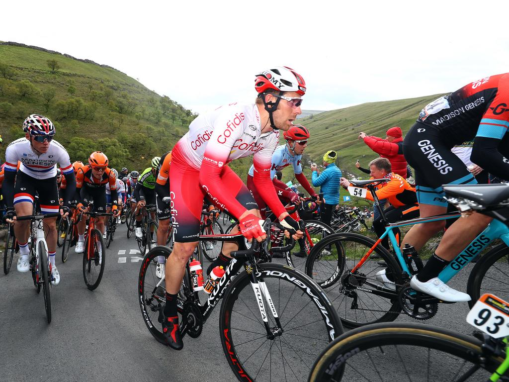 The Tour de France sees a rise in cycling accidents from fans following the route. Picture: Getty Images