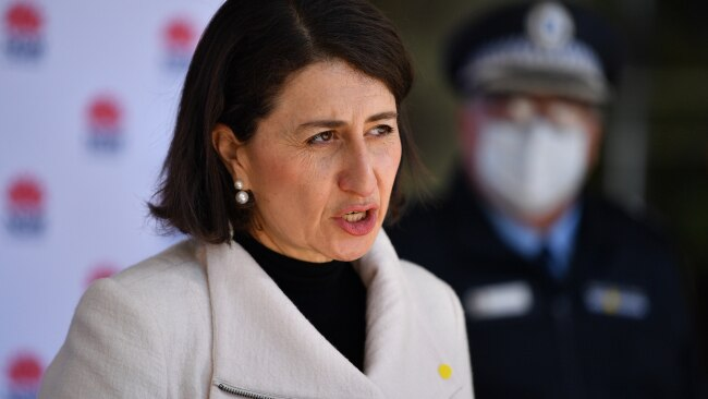 NSW Premier Gladys Berejiklian announced the state recorded 97 new cases overnight. Picture: NCA NewsWire/Joel Carrett