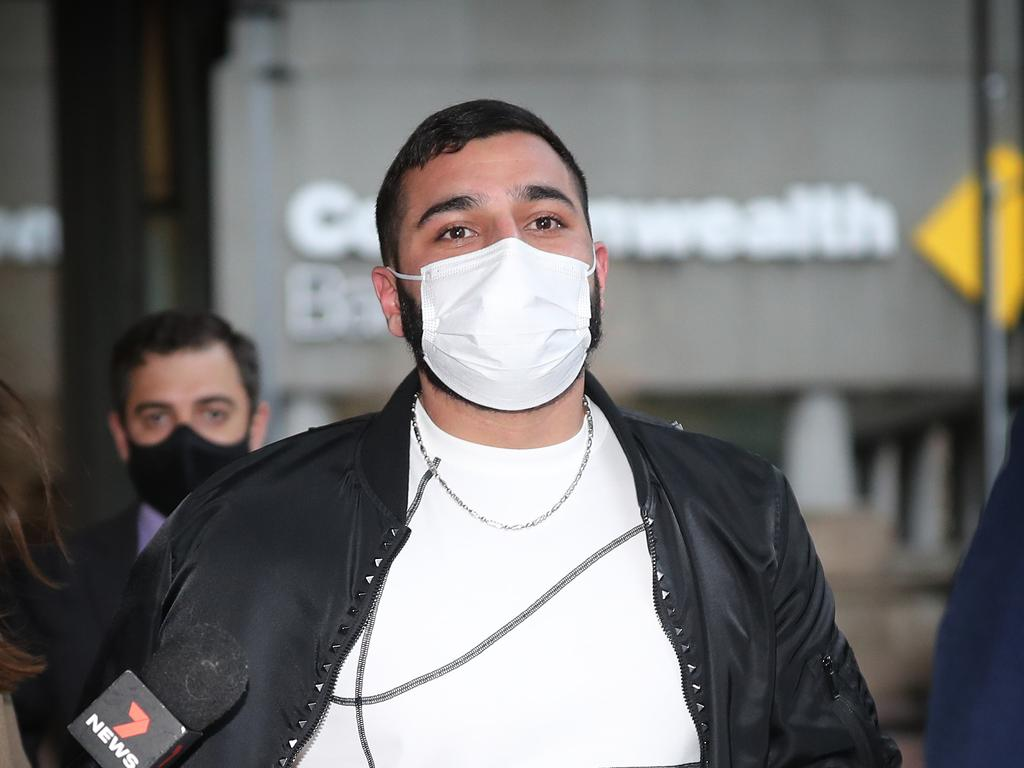 Ibrahem Hamze is the younger brother of Bilal Hamze, who was murdered in June. Picture: NCA NewsWire / Christian Gilles