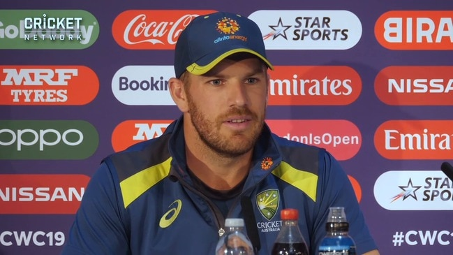 "Crowd booing just ""white noise"": Aaron Finch"